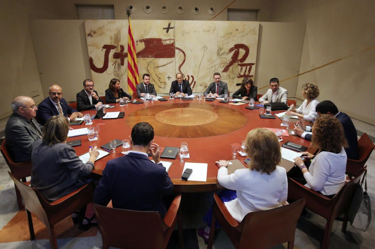 La reunió del govern de la Generalitat del 27 d'agost