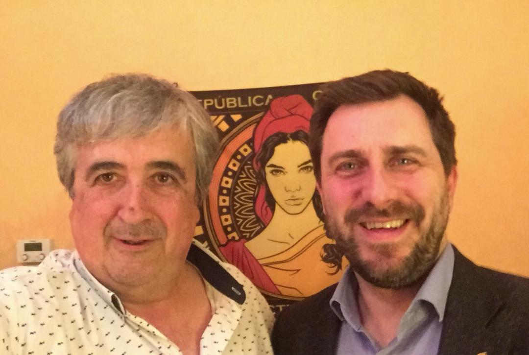 'Selfie' de Joan Puig amb Toni Comín