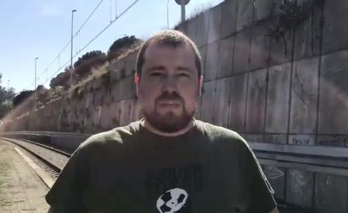 Albert Lameiro, de la CUP de Montcada