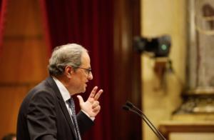 Quim Torra, en el Parlamento catalán