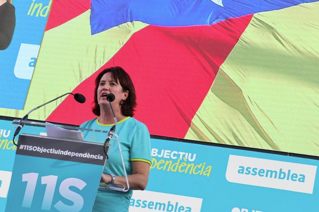 La presidenta de la ANC, Elisenda Paluzie, durante la Diada de 2019