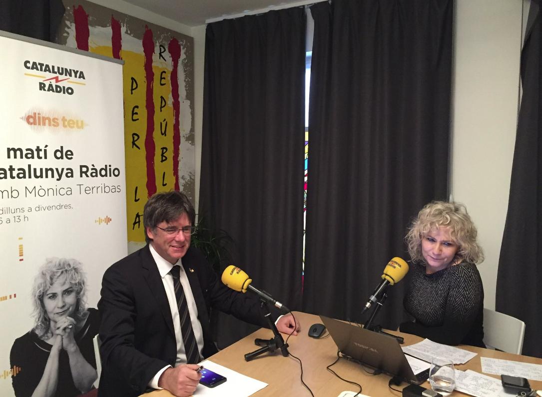 Carles Puigdemont i Mònica Terribas