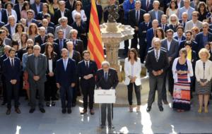 Acte per l'1-O al Palau de la Generalitat