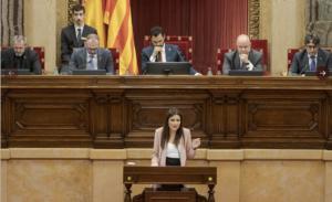 Lorena Roldán en el pleno del Parlament