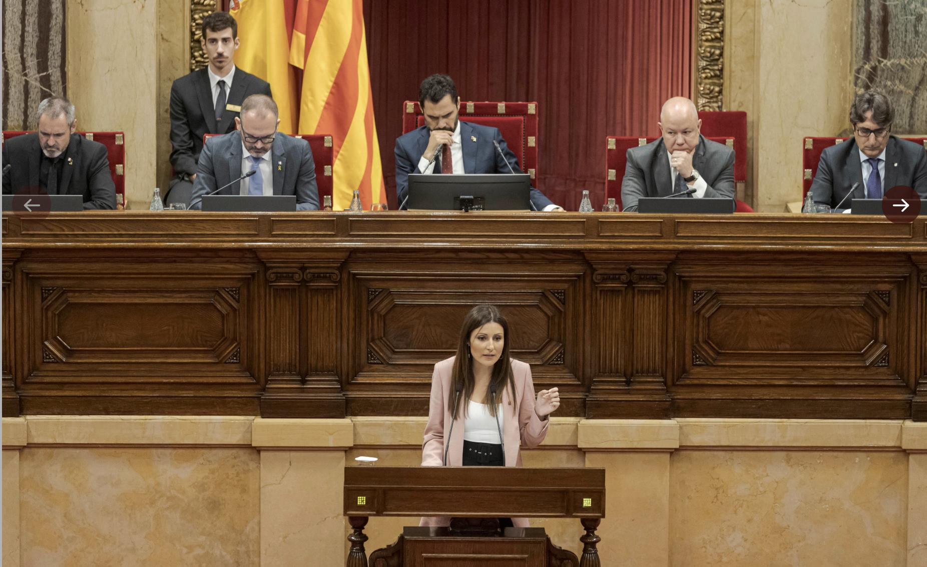 Lorena Roldán al ple del Parlament