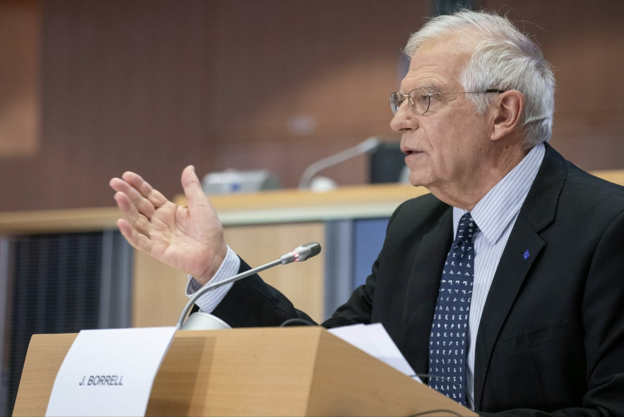 Josep Borrell, en la Eurocámara