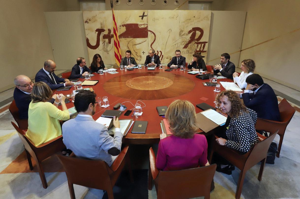 La reunión del gobierno catalán de este 8 de octubre