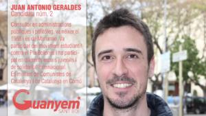 Geraldes, como candidato de Guanyem Sant Boi