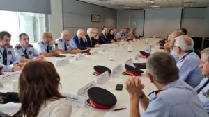 Primera reunió amb responsables de los Mossos del nou director, Pere
