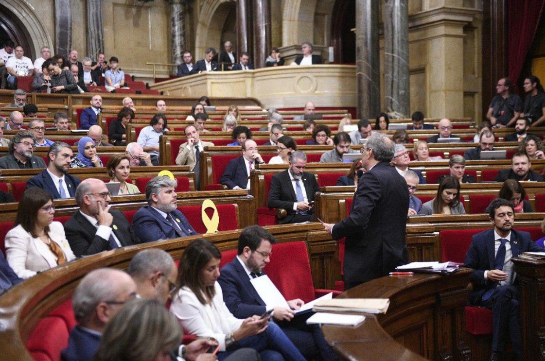 Intervención de Torra en el Parlamento catalán