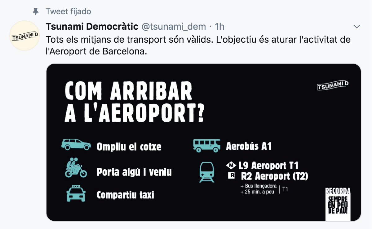 Twitter de Tsunami Democrático