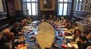 Reunió de la Mesa del Parlament i la Junta de Portaveus
