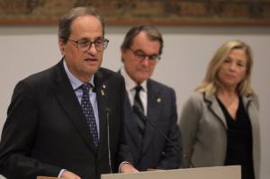 Quim Torra, el expresidente Artur Mas y la exvicepresidenta Joana Ortega