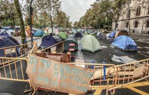 L'acampada de la plaça Universitat
