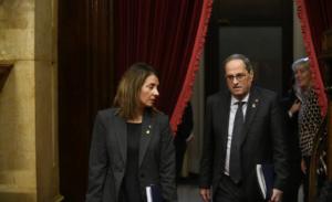 El president Quim Torra i la consellera de la Presidència, Meritxell Budó
