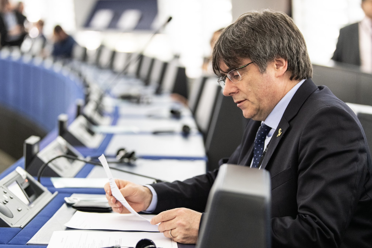 Puigdemont, a l'Eurocambra