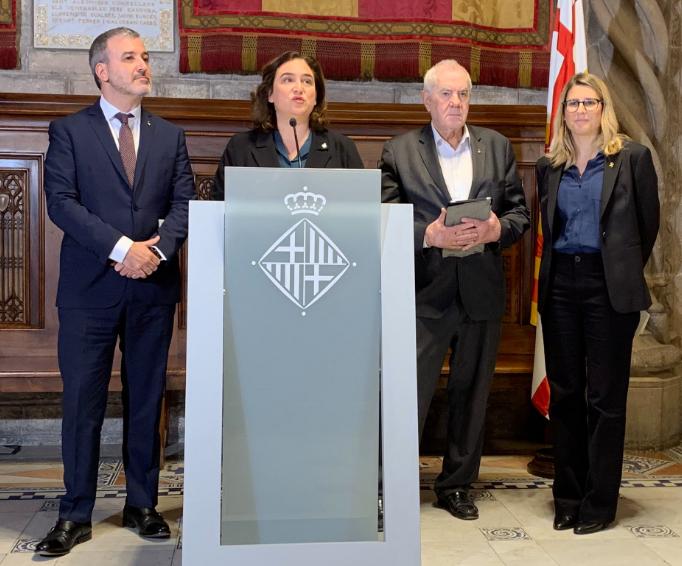 Collboni, Colau, Maragall i Artadi