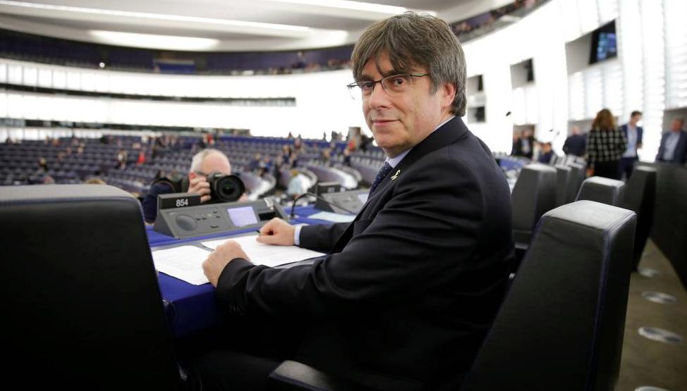 Carles Puigdemont, en la Eurocámara