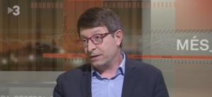 El ex-consejero de Justicia, Carles Mundó, en una entrevista en TV3