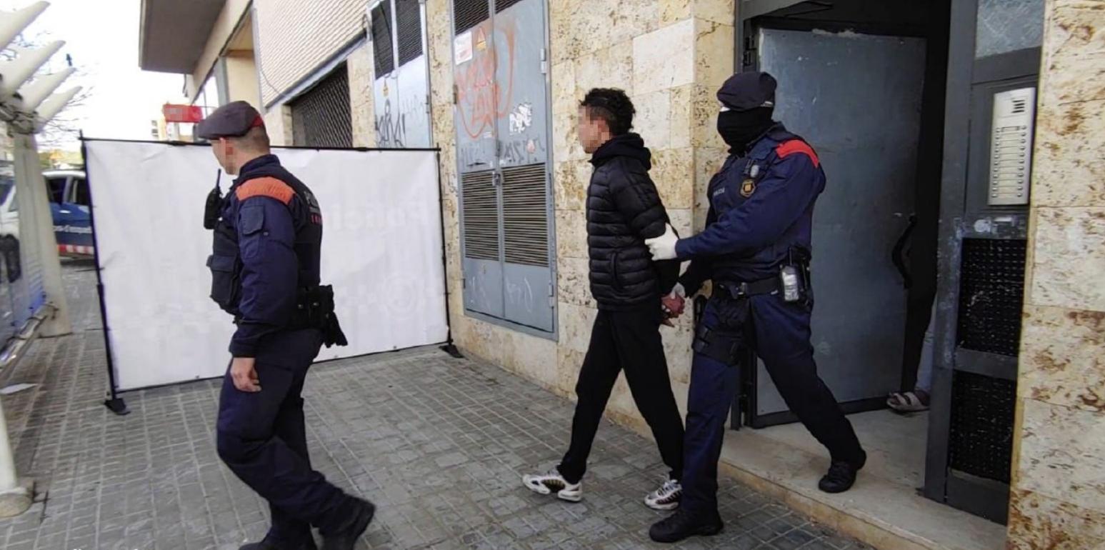 Detención de los Mossos