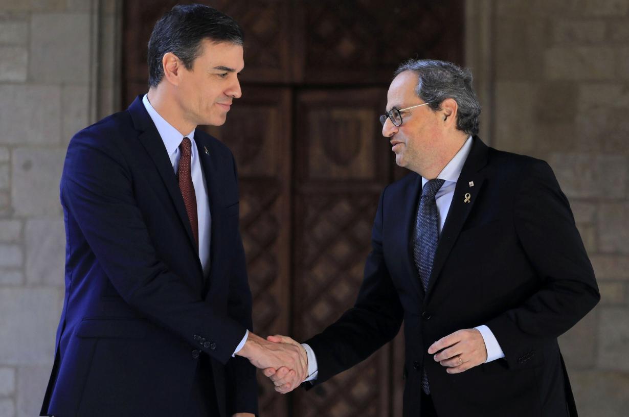 Pedro Sánchez i Quim Torra