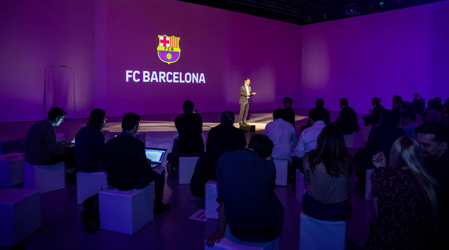 Bartomeu, en un acte del Barça