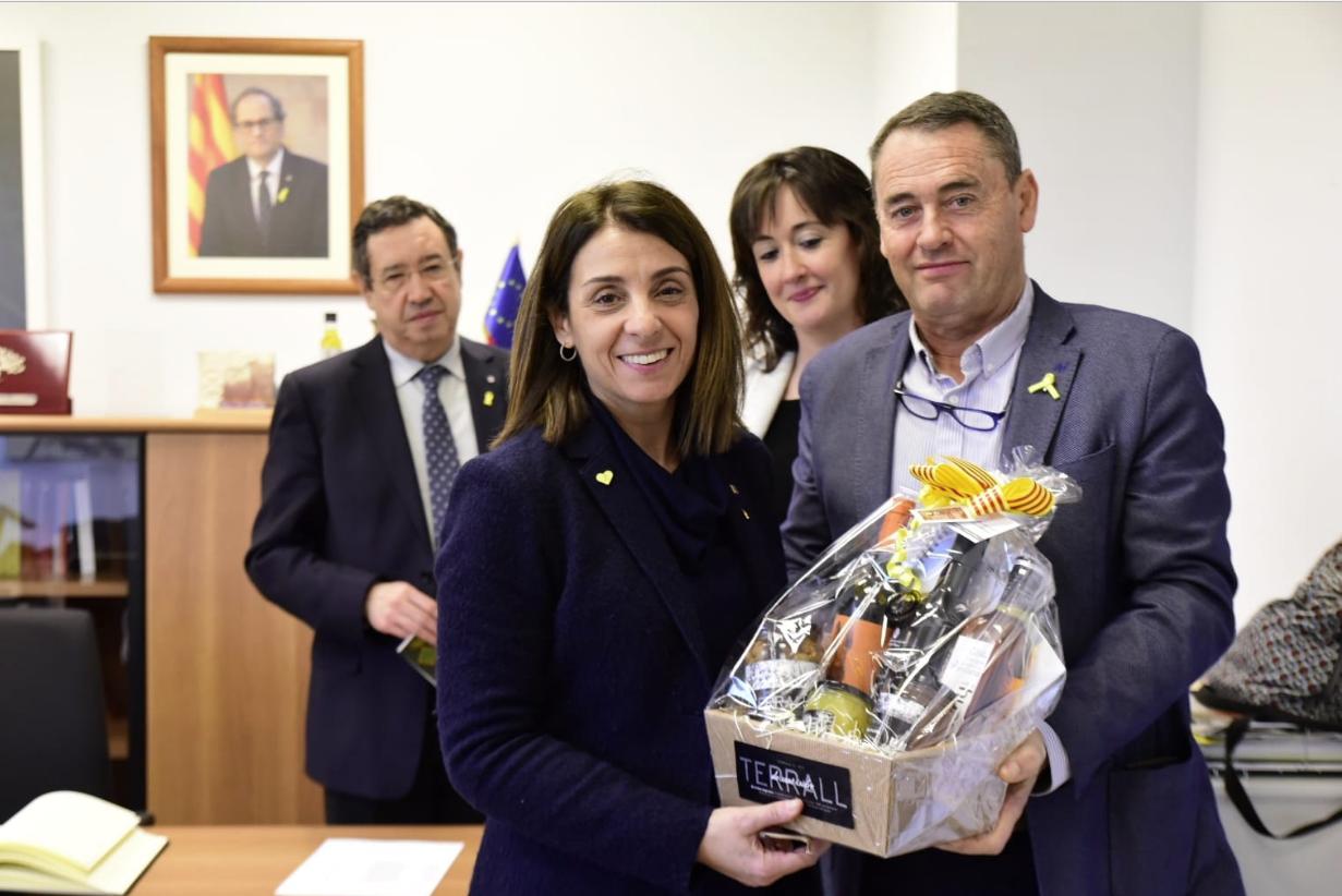 Budó, de visita al Consejo Comarcal de las Garrigues