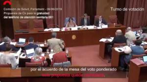 Comisión de Salud del 6 de junio de 2019, presidida por Assumpció Laïlla