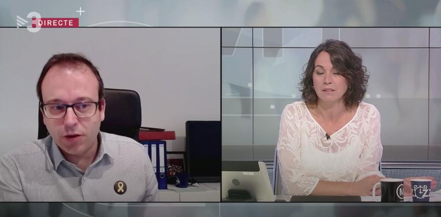 Marc Solsona, a TV3