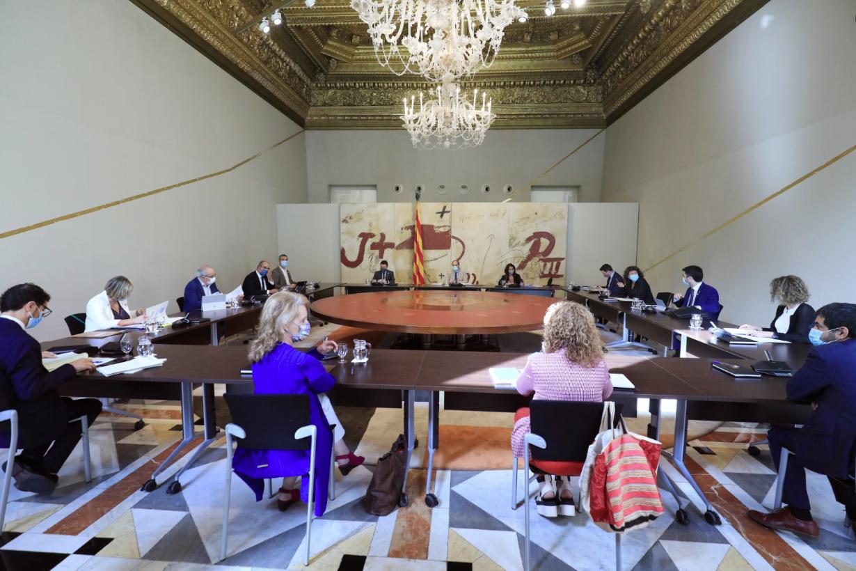 Reunión del gobierno catalán, este martes, 7 de julio