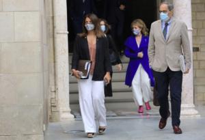 Quim Torra, antes de la reunión semanal del gobierno catalán