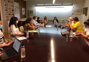 Reunió del director del CatSalut, Adrià Comella, amb professionals s