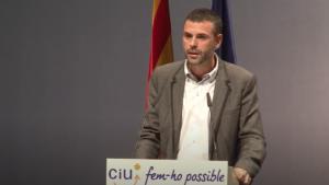 Santi Vila, conseller de Territori i Sostenibilitat, en un míting de