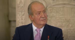 Juan Carlos I, durante la ceremonia de su abdicación, en 2014