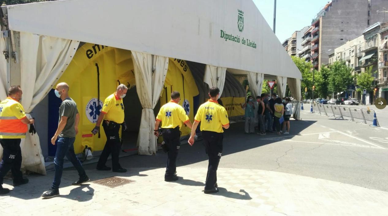 Equipamiento para atender posibles enfermos de Covid-19 en Lleida