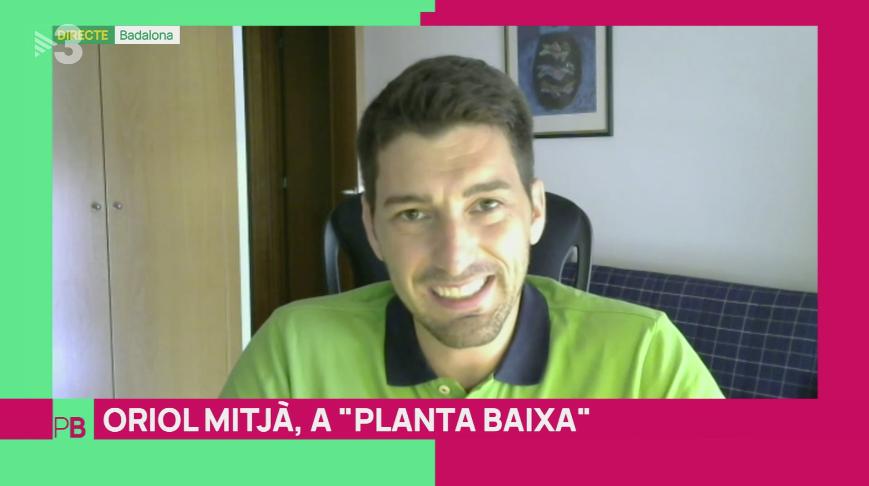 Oriol Mitjà, en una reciente intervención en TV3