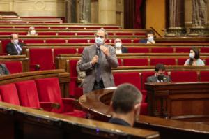 Quim Torra, en una intervenció recent al Parlament