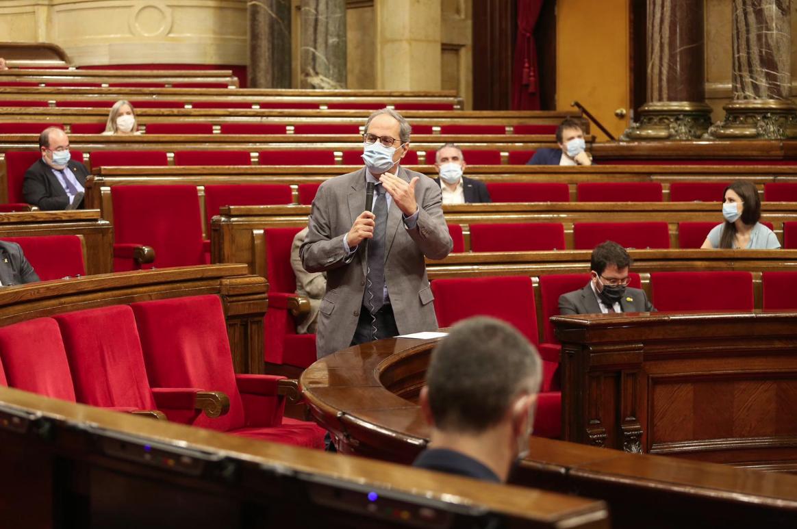 Quim Torra, en una intervención reciente en el Parlament
