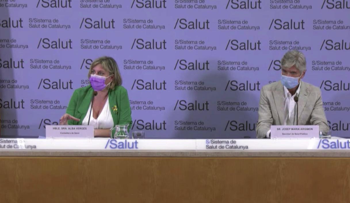 La consellera Alba Vergés i el nou secretari de Salut Pública, Josep