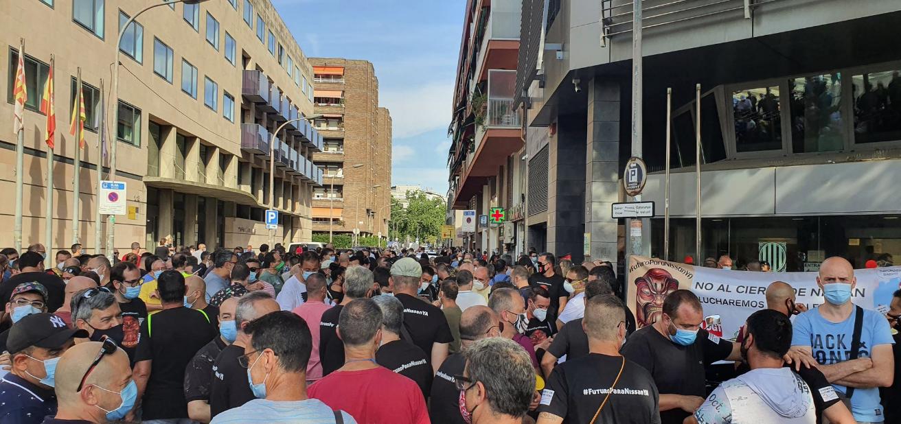 Movilización de trabajadores de Nissan en Cataluña