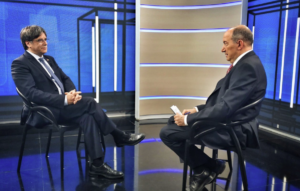 Carles Puigdemont, durant la darrera entrevista a TV3