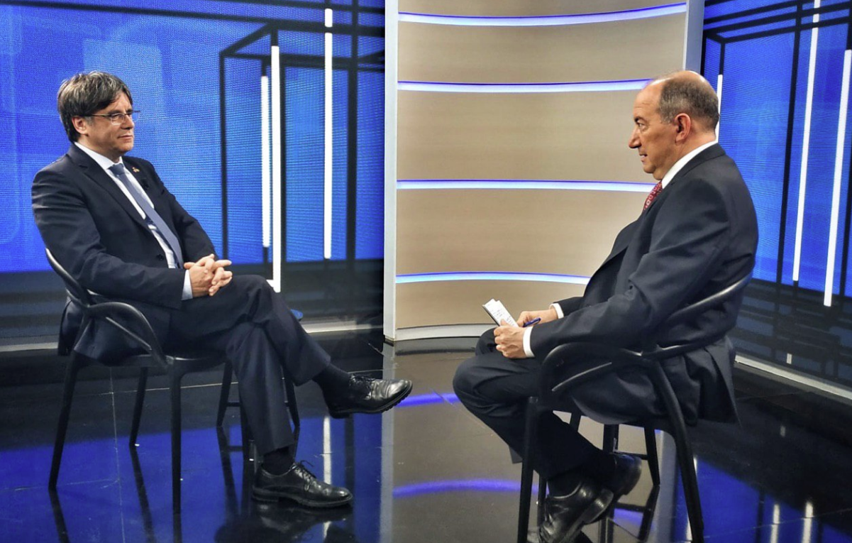 Carles Puigdemont, durante su última entrevista en TV3