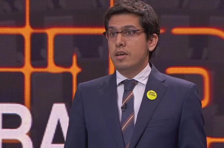 Aleix Sarri, durante un debate electoral