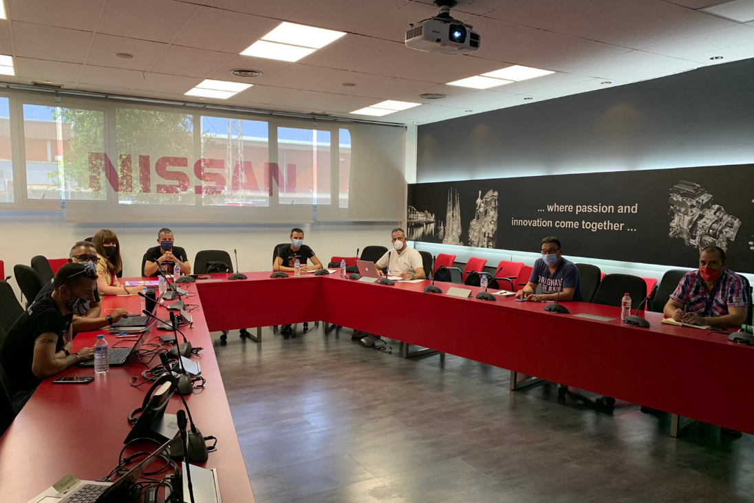 Reunió dels negociadors de Nissan amb els representants dels treballa