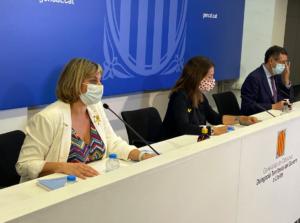 La consellera Vergés, durant una compareixença a Lleida