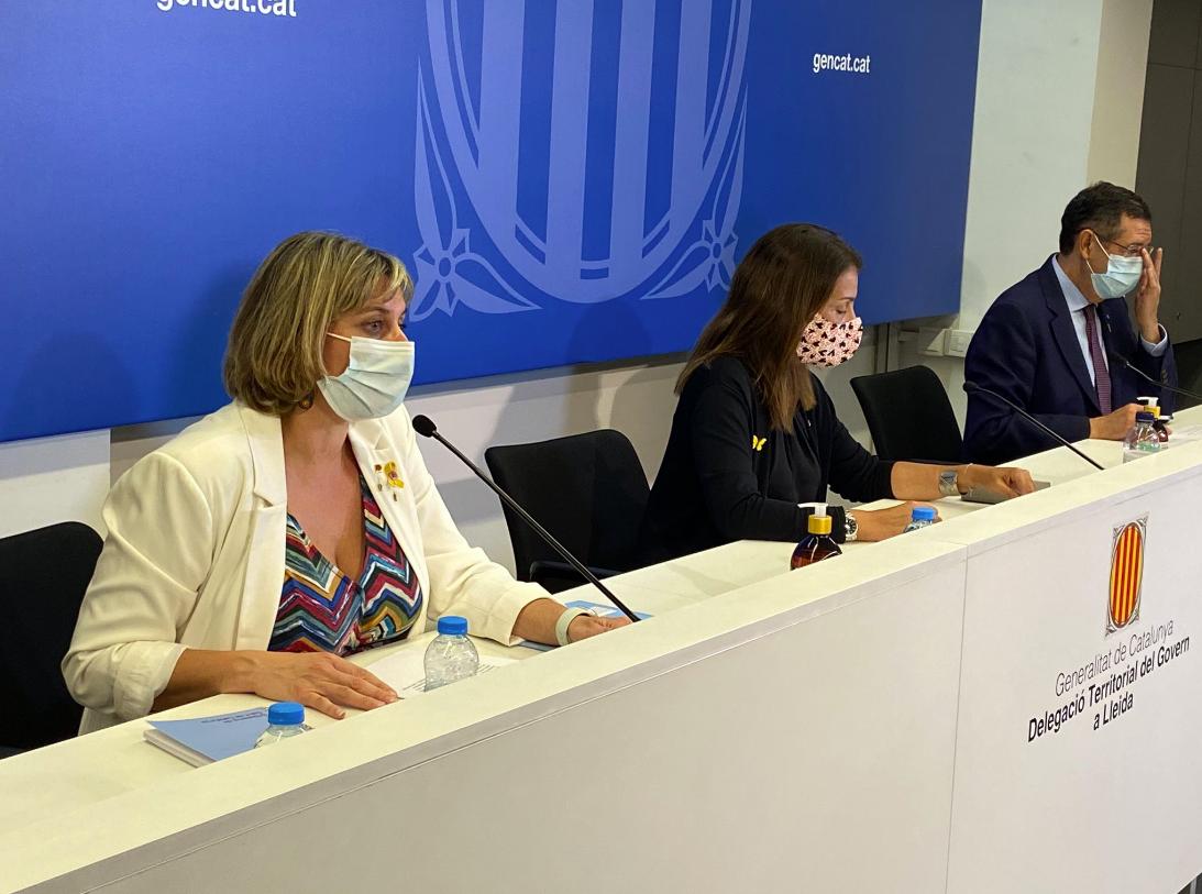 La consejera Vergés, durante una comparecencia en Lleida