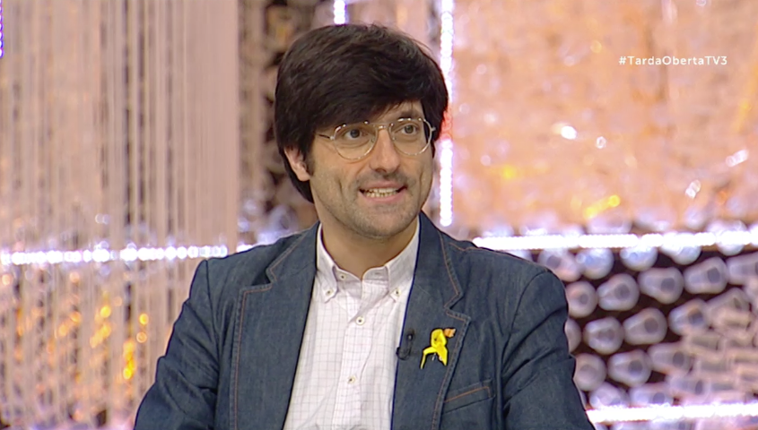 Joan Maria Piqué, a TV3, l'any 2018