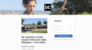 Página web de inscripción al curso de Diana Coromines