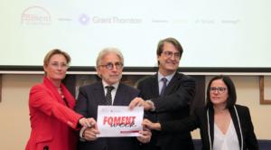 Josep Sánchez Llibre, en un acte de Foment