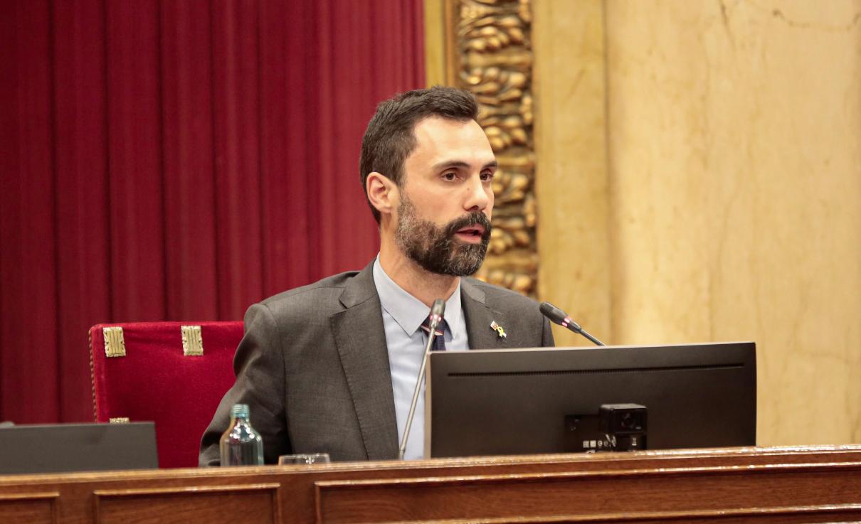 El president del Parlament de Catalunya, Roger Torrent